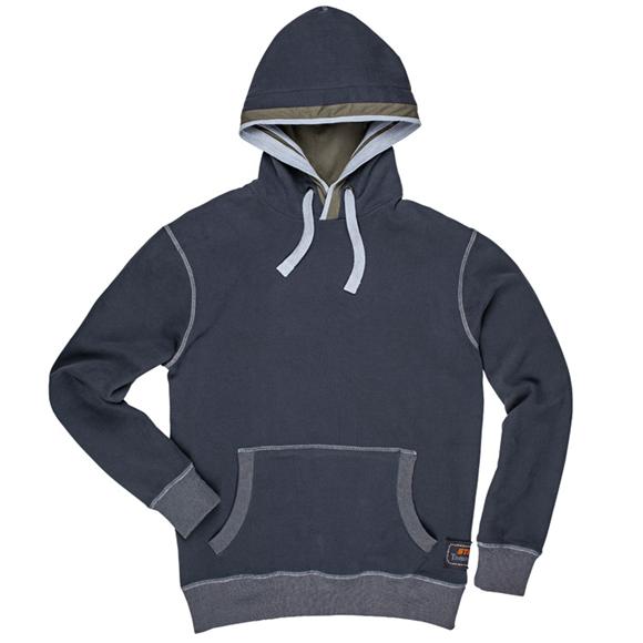 Stihl 100% Cotton Navy Grey Hoodie